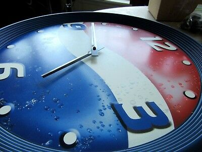"Pepsi Cola Big 18"" Wall Clock Man Cave Garage Retro Soda Advertising Works Great"