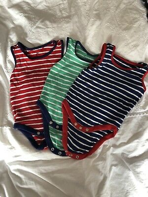 Next Baby Boy Summer Sleepsuits/Vests 6-9 Months Fab condition