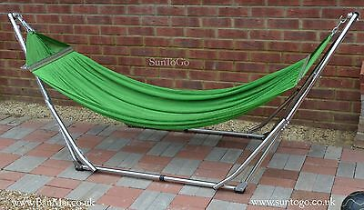High-Grade FOLDABLE HAMMOCK Stainless Steel Folding INDOOR Frame with Hammock