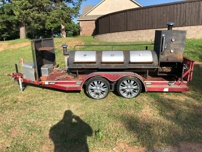 Custom Smoker with Trailer