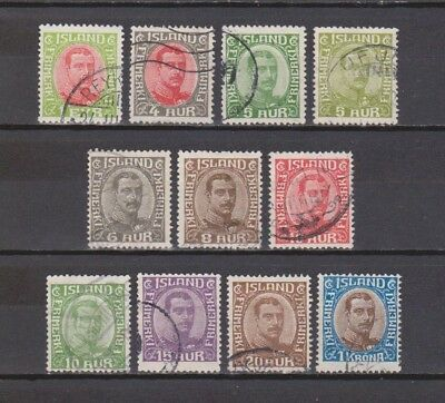 Iceland / Island - 1920-1921 - King Christian - 11 Different Stamps