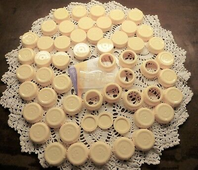 58 Piece Medela Bottle Covers, Lids, Rings, Inserts and Sealed Nipples Free ship