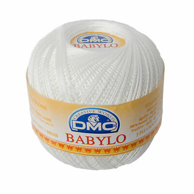 DMC Babylo 10 Crochet Cotton, 100g Ball, BLANC