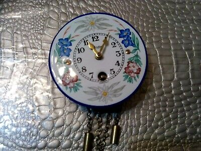 Mini Vintage Key Turn Clock