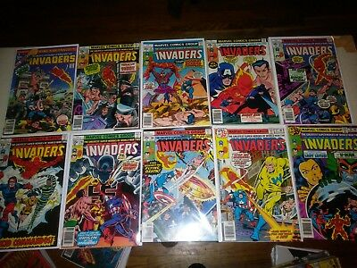 10 Bronze Age Vintage Comic Book Lot Of The Invaders