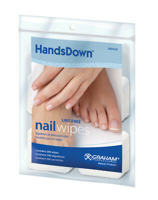 Lint-Free SQUARE Nail Wipes -200 ct/pk - Graham HandsDown - MADE IN USA