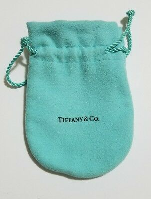 Tiffany & Co. Blue Suede Gift Pouch Jewelry Bag Drawstring Bag L