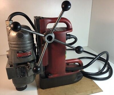 Milwaukee Electromagnetic Drill Press Base 4201 & Drill Motor 4297-1 Works Great