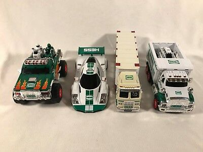 Hess Toy 2003 Truck Race Cars, 2007 Monster Motorcycles, 2008 Front Loader, 2009