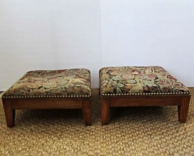 Antique 19th C Matched Pair of Italian French Footstools Foot Rests