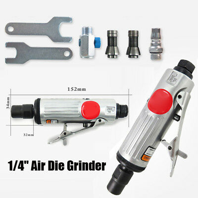 """Heavy Duty 15Pc 1/4"""" Air Pneumatic Die Right Angle Grinder Polisher Sander Kit"""