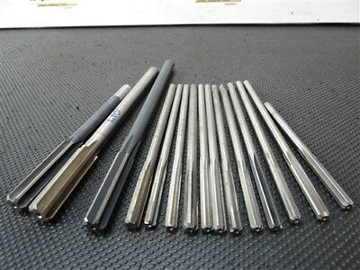 """Lot Of 15 Hss Chucking Reamers .2490"""" To .547"""" L-I, R.r.t, Ap"""