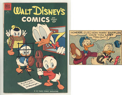 April 1954 WALT DISNEY'S COMICS & STORIES #163 with MUSICAL BASEBALL cover.FINE!