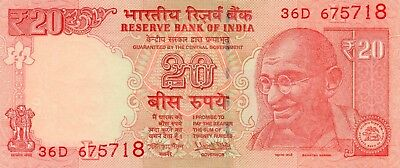 INDIA 20 Rupees 2017 P NEW Letter L UNC Banknote
