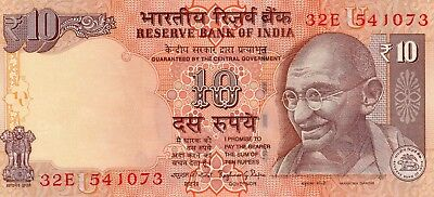 INDIA 10 Rupees 2015 P102 Letter U - UNC Banknote