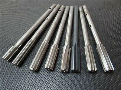 """Lot Of 8 Hss Chucking Reamers 5/8"""" To 11/16"""" Cle-Forge"""