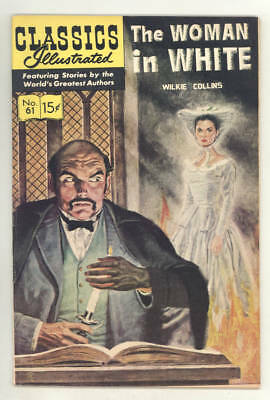 CLASSICS ILLUSTRATED #61 HRN167 THE WOMAN IN WHITE. Blum art.SPOOKY STORY! FINE.