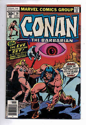 Conan the Barbarian #79(VG+) and #80(VG-F), Marvel, 1977