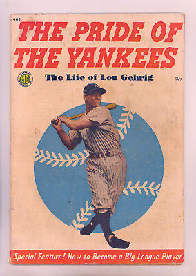 Pride of the Yankees (ME 1949) VG Lou Gehrig Photo Cover, Whitney Art, Babe Ruth
