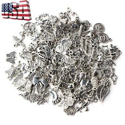 Wholesale 500pcs Bulk Lots Tibetan Silver Mix Charm Pendants Jewelry DIY US