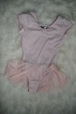 Freestyle By Danskin Girls Dance Leotard Tutu- Size 7/8 MEDIUM Pink Ballet