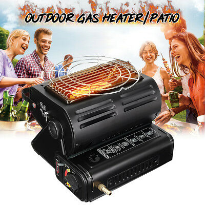 Portable Outdoor Butane Gas Heater Flueless Camping Tent Hiking Grill BBQ 1300W
