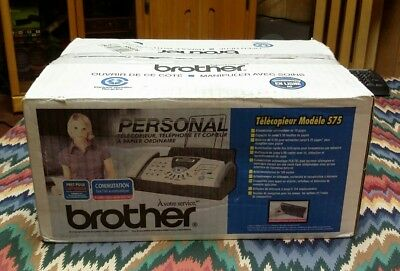 BRAND NEW Brother FAX575 Plain Paper Fax / Phone / Copier Machine