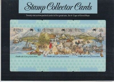 Stamps Australia First fleet Cape Good Hope set 3 collector cards pack postmark