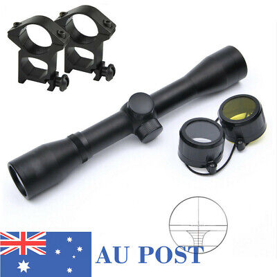 Compact 4x32 Rifle Scope Rangefinder Reticle Optic Scope sight&Mount for Hunting