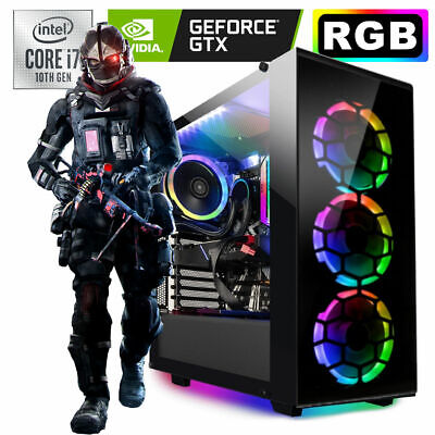 Gamer PC Intel i7 8700 6x 4.6 Ghz Geforce GTX 1060 6GB HDD SSD Gaming Windows 10