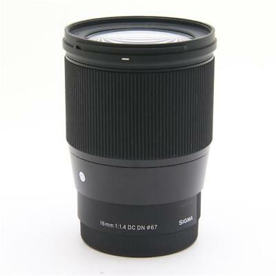 Sigma Wide Angle Lens Comtemporary 16mm F1.4 DC DN for Sony E mount APS-C