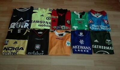10 Fussball Trikots (Liverpool,Chelsea,Hannover,Rangers)