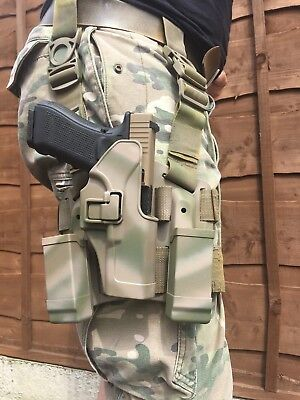Tactical glock 17 Drop Leg holster Thigh Right hand Holster Glock 17 18 22 23