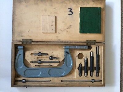 """engineering tool - shardlow micrometer - 6 - 7"""" -boxed With Some Extras"""