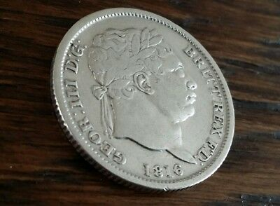 1816 Shilling George Iii British Silver Coin Nice