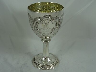 GEORGE III solid silver WINE GOBLET, 1778, 195gm