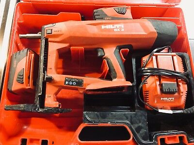 Hilti BX3 Actuated Fastening Tool comes w/ case, charger, 2 batteries - Good