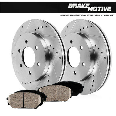 Front Brake Rotors and Ceramic Pads For 2003 2004 2005 MAZDA 6