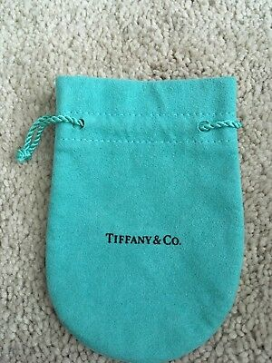 Small Tiffany And Co Jewelry turquoise Suede Drawstring Pouch