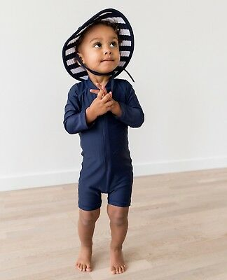 NWT Hanna Andersson Swimmie Rash Guard Suit, Blue, Size 80 18-24 Months Boy Girl