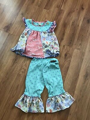 Toddler Girls Matilda Jane Swan Polka Dot PJS Size 2