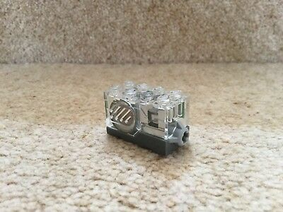 LEGO Trans Clear Electric RED Light 2 x 4 Brick 54604 REF 651