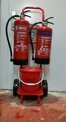 Mobile Fire Point with Manual Wind Alarm & Sand Bucket