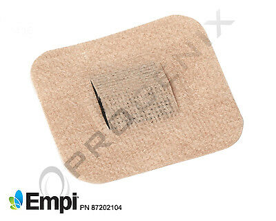 "TENS Electrodes Pads Straight Pin  2.25""x2.5""  40/pack NEW (1 pk) Comfortease"
