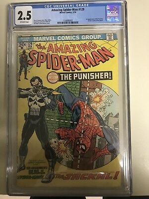 The Amazing Spider-Man #129 CGC 2.5 1st APP OF THE PUNISHER