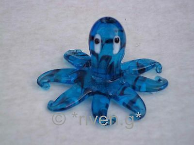 OCTOPUS ORNAMENT@Unique Blue Glass Ornament@Collectable Gift@Loveable Marine Set