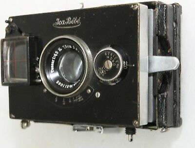 ICA Bebe glass plate camera c1925 with case and plate carriers FREE UK POST