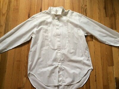 Men's white Giorgio Armani 100% cotton tuxedo shirt size 16.5