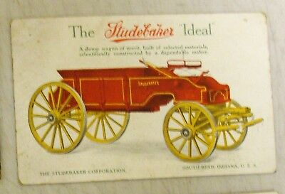 """Colorful Postcard of """"The Studebaker Ideal""""  South Bend Indiana"""