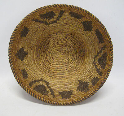 Vintage Native American Indian Papago Southwest Woven Coil Basket Bowl #20 yqz